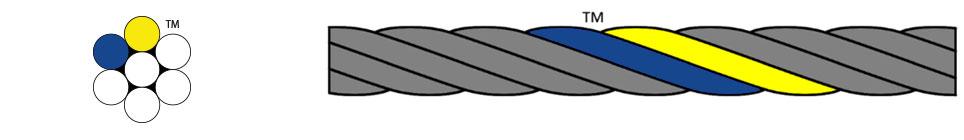 Kulkoni Import Wire Rope - Blue & Yellow Strands™