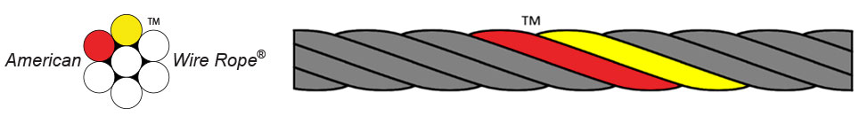 American Wire Rope™ - Red & Yellow Strands™